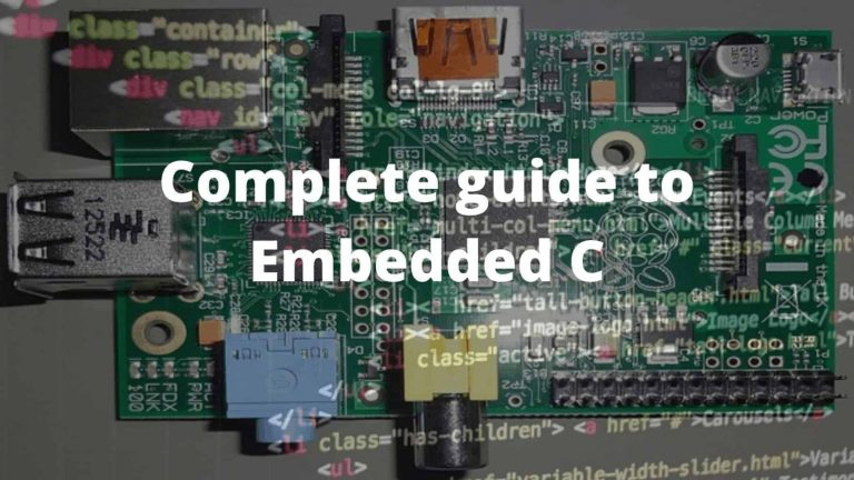 Embedded C online training course
